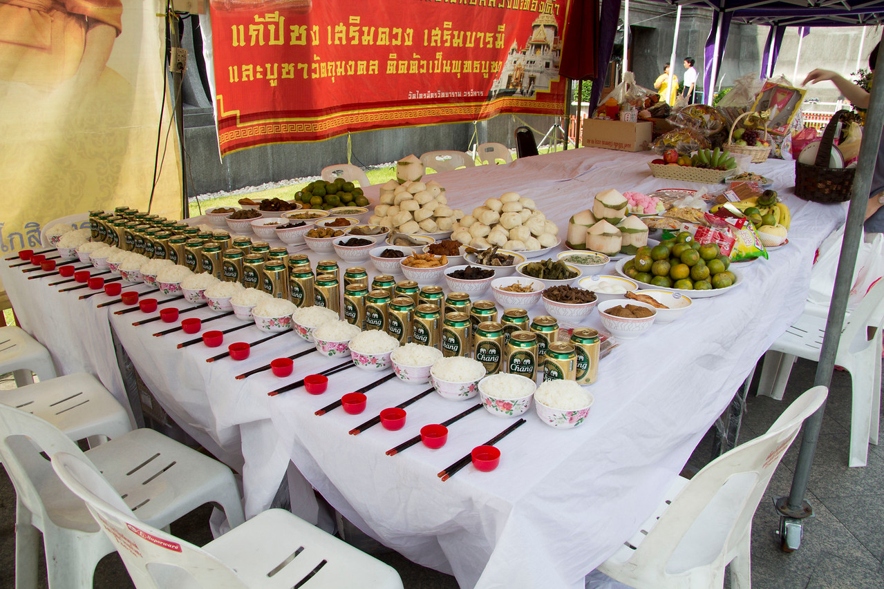 Thailand items for offering that you can purchase at temple