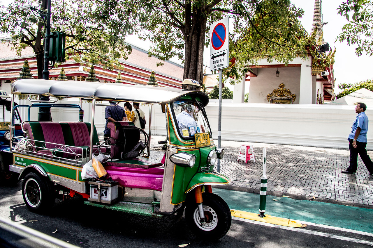 Thailand Tuk-tuks are Thailand's sputtering motorcycle taxis