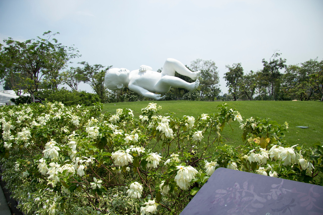 Singapore Gardens by the Bay Marc Quinn's giant baby sculpture – titled Planet