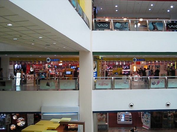 Funan IT mall... you won't believe the number of laptop shops here until you see it!