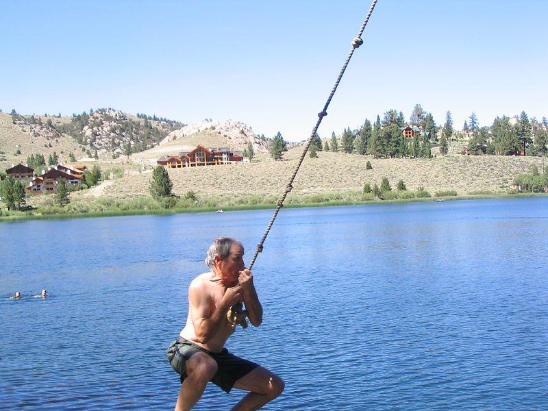 Malcolm Dalglish on teh rope swing