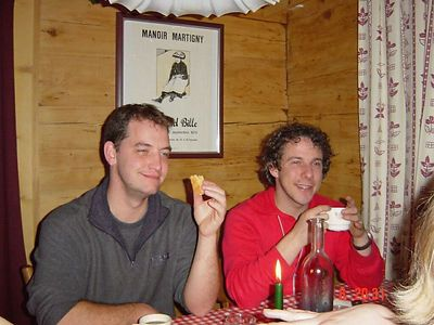 Chris and Imro at dinner