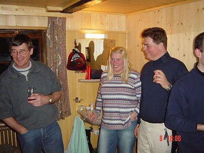 First drink after arrival - Andre, Jacqueline, Marcel