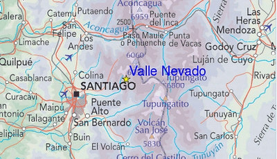 headed to Santiago, which, while quite close to Valle Nevado, is a typically winding, long, mountain road away