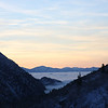 No, that is not the Ocean...it's a fog settled in over Salt Lake.  Driving in from Alta (Mitchell Weisberg)
