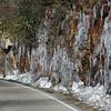 Frozen water along 441 highway.