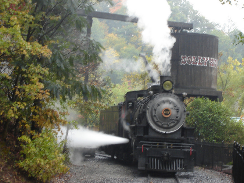 "Train ride in ""Dollywood"""