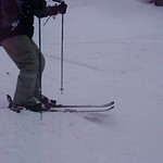 Chris skiing down Upper Doc Dempsey's