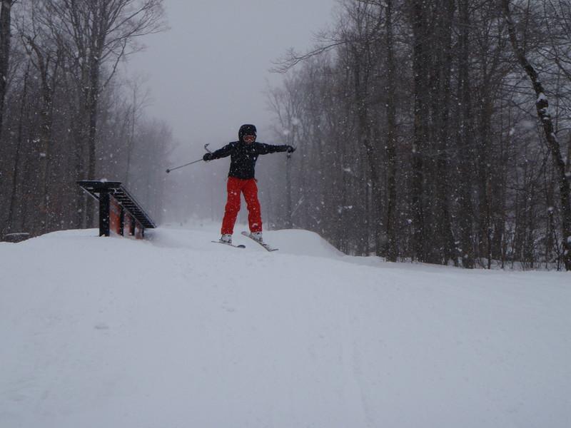 Lavina jumping on Birch Run