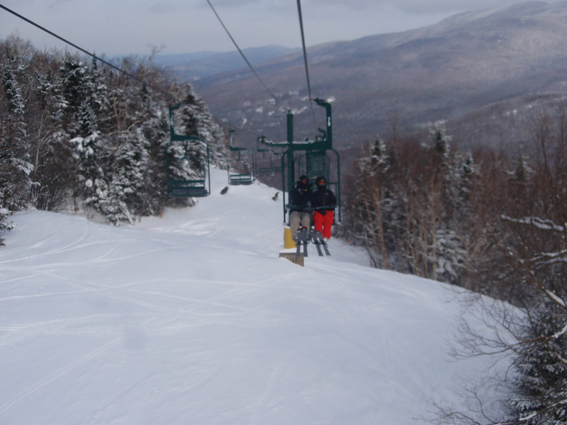 Lavina and Chris on the Sterling Chairlift