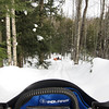 Perfect snow conditions for exploring anywhere through the woods.  Deep enough to cover all the obstacles but set up so no worries about getting stuck.