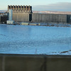 Crossing the bridge between Duluth and Superior.  Lots of giant ice chunks.  Not the best pic at 55 mph though...