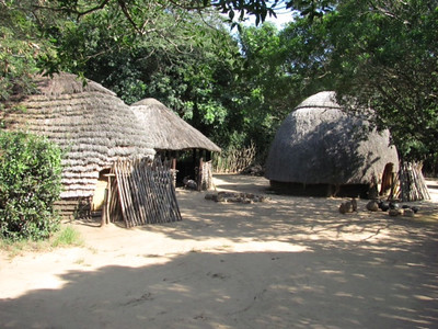 Some of the Zulu huts/homes.