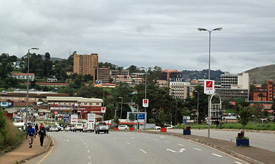 The next morning, we ventured into downtown Mbabane, the capital.  This view makes it look much more upscale that it really is!