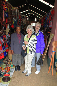 We had a few minutes to shop for ourselves and Ginny and Mary bought a couple necklaces from this lady.