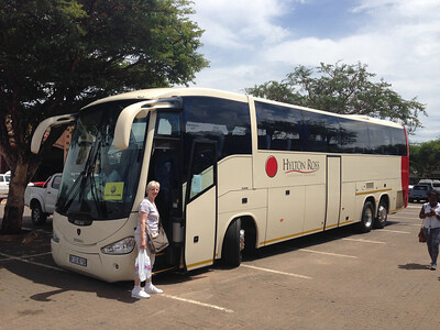 Here is the bus we used for the entire first half of the trip.  We spent a lot of time on it and it was very nice as buses go!