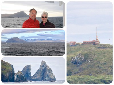 A beautiful day and calm seas rounding Cape Horn. The southernmost lighthouse in the world.
