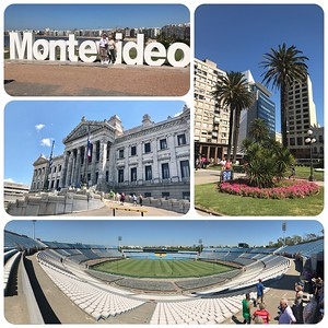 City tour of Montevideo, Uruguay. A beautiful city with miles and miles of beaches, historic Independence Plaza, a magnificent Parliament Building, and their favorite, Centenario Football Stadium, where the first World Cup was played in 1930----and Uruguay won!