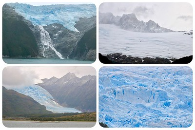 Glaciers… Glaciers… Glaciers… along the Beagle Channel (named after Darwin's ship). We are now in Argentina.