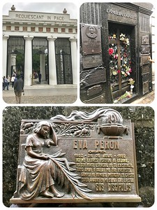 Buenos Aires Day 2 - Eva (Evita) Peron's mausoleum in Recoleta Cemetery.