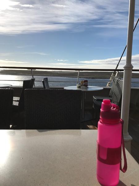 Breakfast on the back deck
