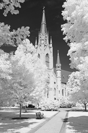 Basilica of the Sacred Heart, Infrared