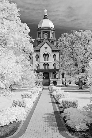 Main Building Golden Dome, Infrared