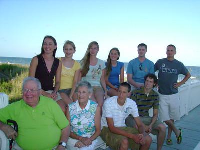 Front Row:  John, Sara, John, Paul Back Row:  Rebecca, Hannah, Kelly, Jena, Christopher, Nathaniel