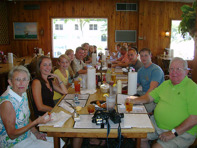 Dinner at Nance's.  Sara, Rebecca, Hannah, Kelly, Michael, Nancy, Paul, Paul, Jena, Candace, Carol, Claire, Steve, Eric, John, Nathaniel, Christopher and John.