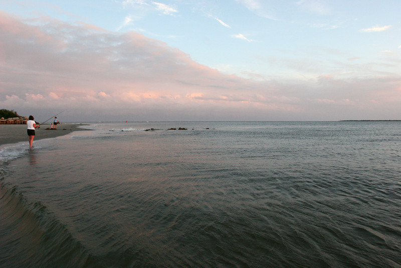 Such a pretty beach, right at sunset.