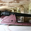 These guns and carages had tanks built around them, filled with water and they used elctrolosis to remove the oxidation.  Then t