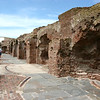 This area was bombarded very hard from begind.  All the arches are gone, and there are spend shells stuck in the brick work ever
