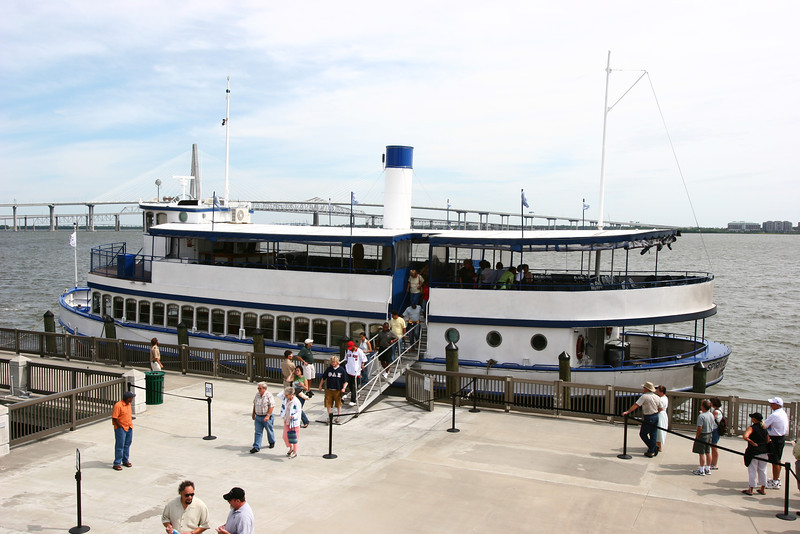 It was a pretty nice boat, little snack bar, nice bathrooms, and an air conditioned dining room.