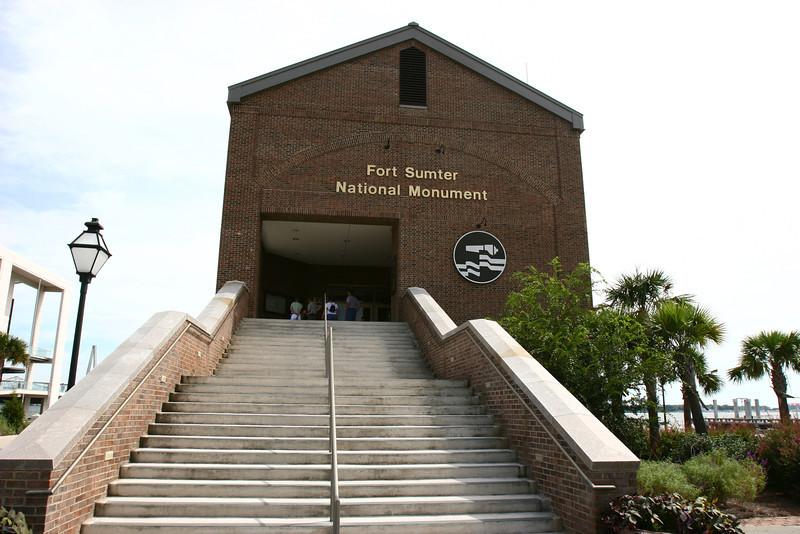 This nice little building has a very nice little museum inside and a boat dock out back to take you to the fort.