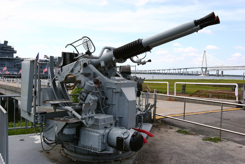 Anti-Aircraft gun.  These where mounted on various ships in singles, doubles and quads.  Each barrel is capable of about one rou