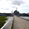 The Yorktown from the entrance gate to the museum area.