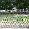 Nice iron fence around the church yard across the side street from the Joseph Manigault house