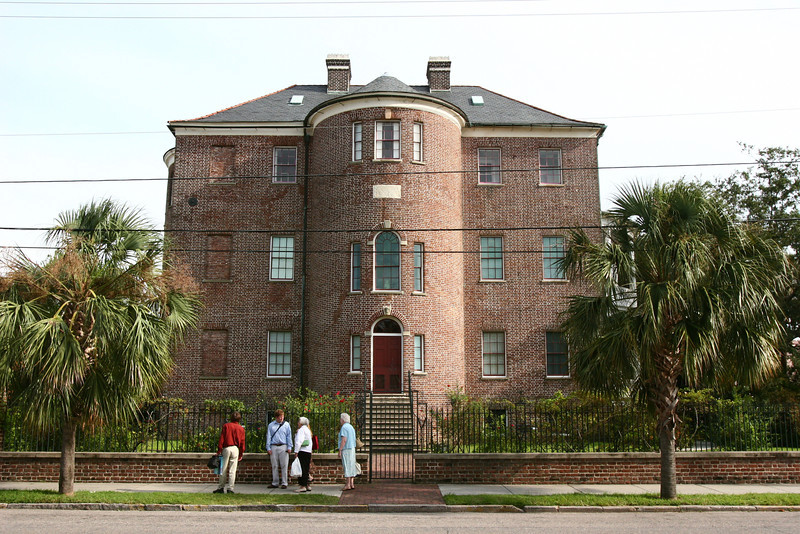Front of the Joseph Manigault house, across the street from The Charleston Museum