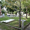 Ancient graveyard behind the church