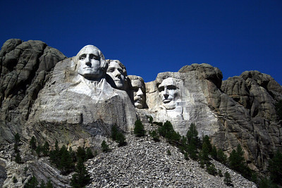 Carved into the Black Hills of South Dakota are the iconic faces of four former presidents of the United States--George Washington, Thomas Jefferson, Theodore Roosevelt, and Abraham Lincoln. These men were chosen to represent the first 150 years of American history and America's cultural heritage.