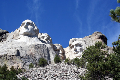 Here are a few more Mount Rushmore facts for inquiring minds  • Borglum was 60 years old when he began working on the monument.  • Rushmore's granite faces tower over 5,500 feet above sea level.  • The carvings are scaled to men who would stand 465 feet tall.  • Each President's head is as tall as a six-story building.  • Over 800 million pounds of stone was removed from Mount Rushmore during the construction.  • Imagine climbing 506 steps to reach the top of Mount Rushmore-this was how many steps the workers had to climb each day!  • The president's noses are 20 feet long, their mouths 18 feet wide, and their eyes are 11 feet across!  • Did you know that Gutzon Borglum was a student of renowned French artist Auguste Rodin, and was one of America's most successful artists before even considering Mount Rushmore? His Mares of Diomedes was the first American work purchased by New York's Metropolitan Museum of Art. He also has 5 statues on display at the U.S. Capitol Building.  • Here is an astonishing fact: no deaths occurred during the whole period of carving, just a few minor injuries.  • Can you imagine that with all the dynamite used?