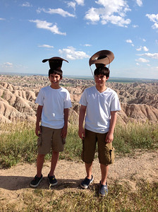 In badlands,South Dakota