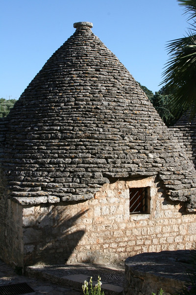 No mortar is used for the roof.