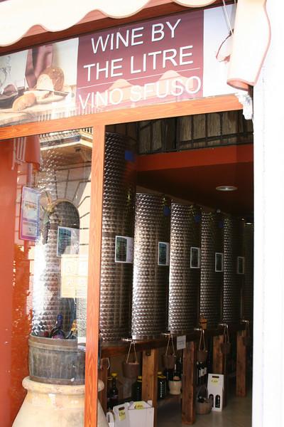 Wine store around the corner.