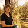 Nancy in the Heavenly Valley Gondola on the way up the mountain.