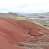 Parked at the painted hills.  I took this at the end of the hiking trail.  You can see the cement footings they where putting in