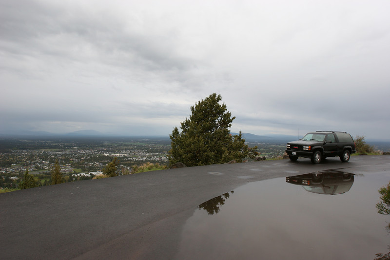 Parked at the top of Pilot Butte in Bend, OR.  Feels like you're up above the world here.