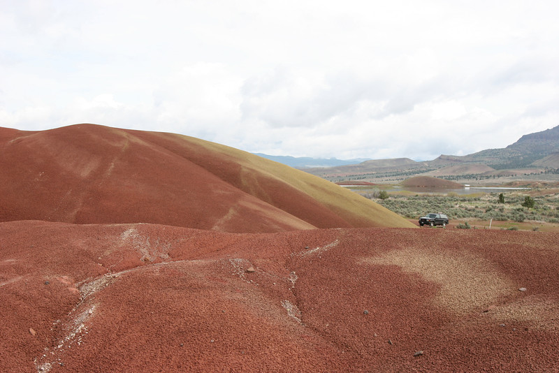 Parked at the painted hills