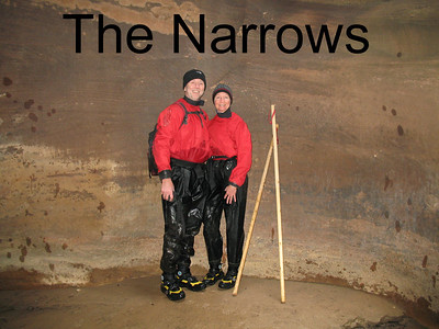 Tuesday, we hike the Narrows, properly outfitted!