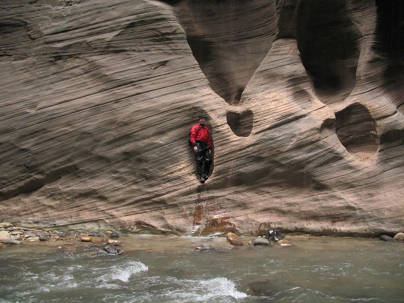 Weird people in rock formations along the narrows.